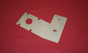 Stamping of a Steel Channel Bracket for the Product Display Industry